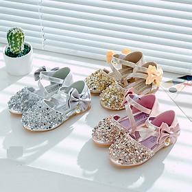 Giày búp bê công chúa lấp lánh cho bé gái
