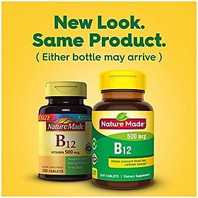 Viên Uống Nature Made Bổ Sung Vitamin B12 500mcg Giúp Trao Đổi Chất (200 Viên/Hộp)