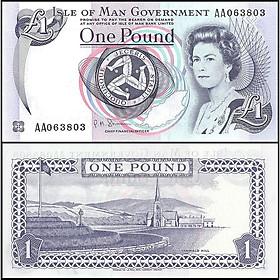 Tiền đảo Man 1 bảng Nữ hoàng Elizabeth II