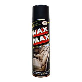 Bình Xịt Đánh Bóng Và Làm Sạch Wax Max, Làm Sạch Nội Thất Ô tô, Chai Vệ Sinh Đồ Da