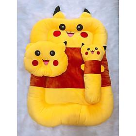 Bộ nệm cho bé sơ sinh hình thú Pikachu