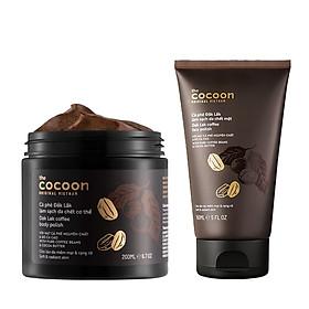 Combo Cà phê đắk lắk Tẩy da chết Body cocoon 200ml + Tẩy da chết Mặt cocoon 150ml