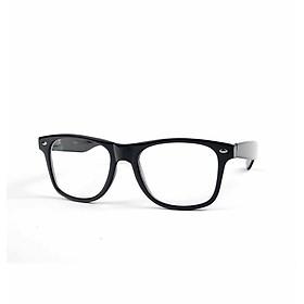 Kính xinh, Kính giả cận, Gọng kính cận Mắt vuông nhựa Đen basic + Tặng Tuavit  Kính xinh mini