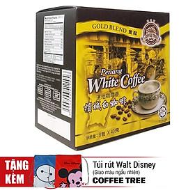 Cà Phê Trắng Malaysia Coffee Tree (Hộp 8 Gói x 40g) - Tặng Túi Rút Walt Disney (Màu Ngẫu Nhiên)
