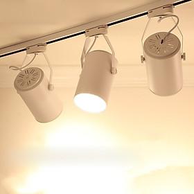 Combo3 đèn rọi ray vỏ trắng 7W ASHE + 1 ray 1 mét dùng cho trưng bày sản phẩm, chiếu rọi tranh