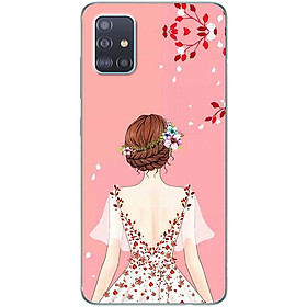 Ốp lưng dành cho Samsung A51 mẫu Cô gái áo hồng