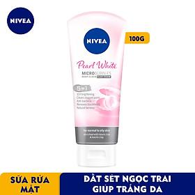 Sữa rửa mặt NIVEA Pearl White Đất Sét giúp trắng da ngọc trai (100g) - 81273