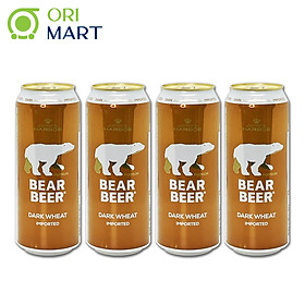 Combo 4 Lon Bia Bear Beer Dark Wheat Imported 5.4%