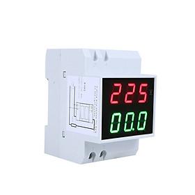 Đồng Hồ Đo Điện Áp - Ampe Kế Kĩ Thuật Số Màn Hình Hiển Thị LED Din-Rail (AC80-300V 0.2-99.9A)