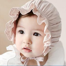 Mũ bèo ren tiểu thư cho bé gái - Tặng móc khóa Houston