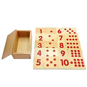 Thẻ ghép từ 1-10 Giáo cụ Montessori