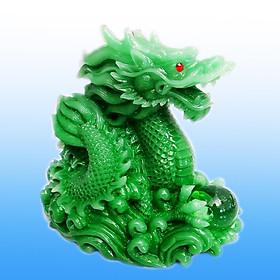 Tượng Rồng Ôm Ngọc 12 cm  Trang Trí  Phòng Khách Giúp Khai Vận Cát Tường và May Mắn TPT079