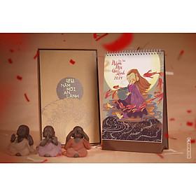 Bộ Lịch Vẽ Thiết Kế Phật Giáo 2021 (29x19 cm) : BTE 12 tháng an lành
