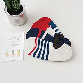 Set hộp 4 đôi tất nam dáng lười NICESOKS chất liệu cotton cao cấp, ngắn cổ thể thao, họa tiết thể thao , hàng chính hãng