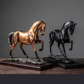 Tượng Ngựa Phong Thủy - Ngựa Xích Thố Decor Để Bàn