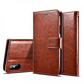 Bao da dành cho Iphone 6 Plus/ 6s Plus/ 7 Plus/ 7s Plus/ 8 Plus , X, Xs, Xs Max kiêm ví tiền đựng thẻ, card rất tiện lợi