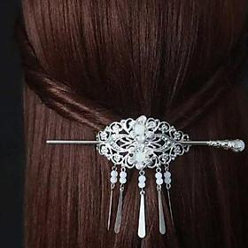 Trâm kim quan cài tóc dạng 5 thanh cổ trang nữ xinh xắn tặng thẻ Vcone
