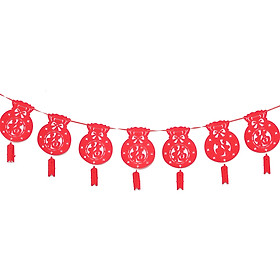 Chinese New Year Decorations Chinese Spring Festival Hanging Decor Good Luck Paper Cut for Chinese Spring Festival Party