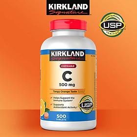 Viên uống Vitamin C 500mg Kirkland 500 viên của Mỹ