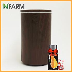 Combo máy khuếch tán/ máy xông tinh dầu dùng cho xe ô tô (xe hơi) N'Farm NF2069 + tinh dầu cam N'Farm (10ml)./ Cáp sạc USB tiện lợi./ Phun sương sóng siêu âm