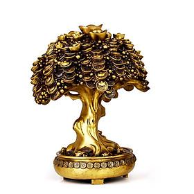 Cây tiền vàng bằng đồng thau cỡ tiểu
