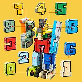 Đồ Chơi Lắp Ghép Bộ Chữ Số Biến Hình Từ 1 2 3 4 5 6 7 8 9 Thành Robot LEGO STYLE