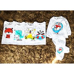 Combo 5 bộ đồ dài cho bé, đồ bé trai, đồ bé gái cotton 2 chiều hình ngẫu nhiên Số 1