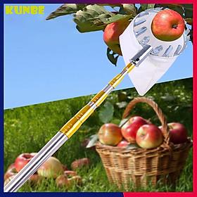 Dụng Cụ Hái Trái Cây Trên Cao Kèm Túi Vải KUNBE Chuẩn Size 16 Cm, Vợt Hái Quả Bằng Kim Loại Siêu Chắc - Hàng Loại 1
