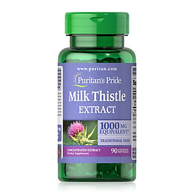 Thực phẩm bảo vệ sức khỏe gan Milk thistle 4:1 Extract 1000 mg (Silymarin)