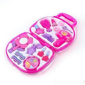 Bộ vali phụ kiện trang điểm cho búp bê ( Tặng 5 cặp dây cột tóc cho bé )