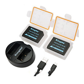 Bộ 2 pin sạc và sạc đôi KingMa NP-W126 Fujifilm XT-20, XT-10, X-A3, X-E2  Hàng chính hãng