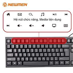 Bàn phím máy tính có dây NEWMEN E007 - Hàng chính hãng
