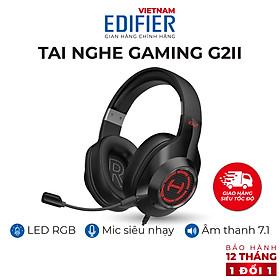 Tai nghe chụp tai có dây gaming 7.1 EDIFIER G2 II Hỗ trợ Mic chống ồn Âm thanh vòm - Hàng chính hãng
