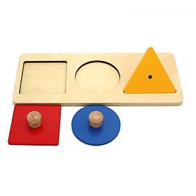 Bộ đầy đủ bảng khay núm hình học - Giáo cụ Montessori