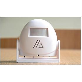 Chuông báo khách, báo trộm cảm biến hồng ngoại version 1 (Màu trắng) - Tặng kèm đèn pin bóp tay mini