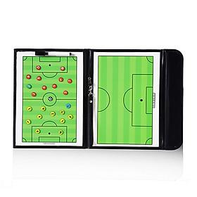 Bảng sơ đồ chiến thuật bóng đá- Bảng chiến thuật bóng đá gấp gọn 53*31 cm+ Tặng kèm bút lông và bảng số nam châm