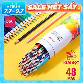 Bút chì màu chuyên nghiệp dạng cốc Deli 24/36/48 màu - 68123/68124/68125