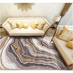 Thảm trang trí Phòng khách sofa Đế dệt điểm 100% Công nghệ Thổ Nhĩ Kỳ - Dòng BLUE YOUTH - Size 1m6 x 2m3 Thảm đẹp siêu êm sợi len tổng hợp 100% Polypropilen