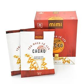Yến Mạch Tổ Yến Mimi (Cacao) - Hộp 10 gói 25gram - Nhà Yến Nha Trang - Thương hiệu uy tín - Đặc sản Yến Sào Khánh Hòa - Yến Sào chất lượng