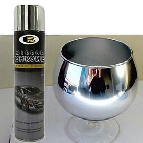 Sơn xịt mạ inox Mirror Chrome B123 hiệu Bosny - Nhập khẩu Thái Lan
