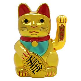 Mèo Vàng Nhựa Vẫy Tay XL Đan Như