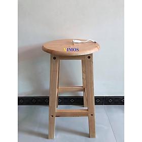 Ghế ngồi gỗ tự nhiên VIMOS cao 60cm -Tặng quạt USB(  màu ngẫu nhiên)