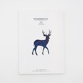 Vở kẻ ngang bìa nhựa dẻo Stars&Elk cỡ B5 160 trang