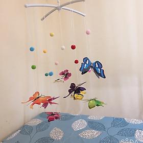 Treo nôi màu sắc hình bướm kích thích thị giác cho bé-0