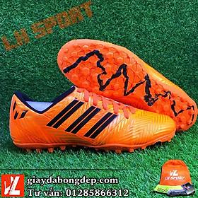 Giày đá banh, giày đá bóng NEMEZIZ MESSI màu cam đồng, siêu bền, đã khâu mũi (Tặng kèm tất)