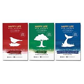 Combo 3 cuốn Happy Life: Những bài học đáng giá về hạnh phúc + Những bài học đáng giá về giàu có + Những bài học đáng giá về xây dựng mối quan hệ