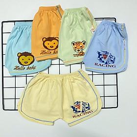 Quần đùi chục (10 quần) cotton Màu nhạt kiểu dáng thể thao cho bé trai, bé gái SS-TomTom001
