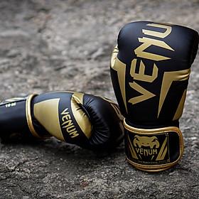 Găng tay Boxing Venum elite - Đen Vàng