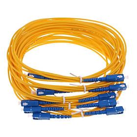 5 pieces 3 Meters Fiber Optical Singlemode Simplex Core Patch Cable SC to SC