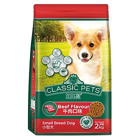 Đồ Ăn Chó Nhỏ Classic Pets Hương Vị Thịt Bò Nướng (2kg)